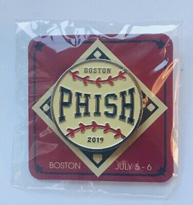 Phish boston pin fenway park baseball 2019 concert tour red sox new