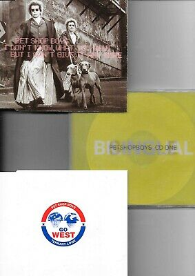 3 x Pet Shop Boys - Bilingual CD one + go west + i don t know what you want  CDs