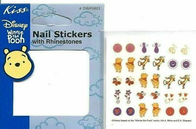 Disney Winnie the Pooh Kiss Nail Art Stickers Decals with Gem Rhinestones