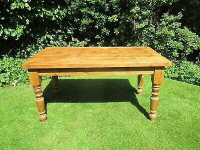 Antique/Victorian pine dining table/farmhouse/rustic