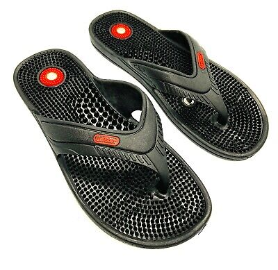 Acupressure Acupunture Magnetic Slippers Sandal Therapy Massager Men Women BLK
