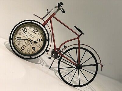 Antique  bicycle type clock Watch Home decoration Tables