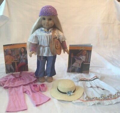 """American Girl JULIE BIRTHDAY DRESS 1 PC HAT ONLY IN BAG for 18/"""" Doll Julie/'s NEW"""