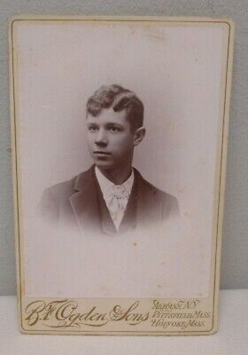 Cabinet Card Photo Portrait of Young Man R.F. Ogden & Sons Albany, NY, etc