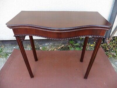 Antique Edwardian Mahogany Folding Top Card Table, Side Table, Tea Table C1900.