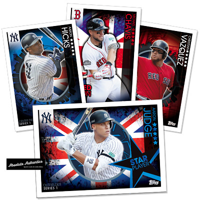 2019 Topps On-Demand UK London Series New York Yankees Boston Red Sox Set