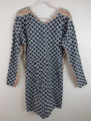 8273c20a899 Marni H&M Mid-Length Dress US 4 EUR 34 Cotton Open Back Mixed Print Long
