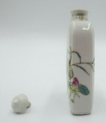 Free Shipping~High Status Porcelain Snuff Bottle with Lotus Flower