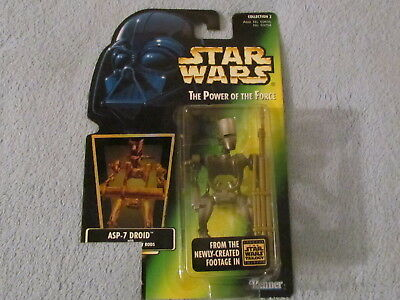 1996 Edition Unopened NEW Holo Star Wars POTF ASP-7 Droid Figure