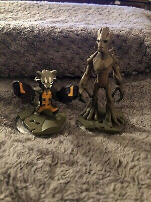 Disney Infinity 2.0 Character Figures - Guardians of Galaxy - Groot and Rocket