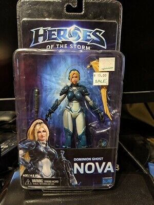 """DOMINION GHOST NOVA Heroes of the Storm 7/"""" Video Game Figure Series 1 Neca 2015"""