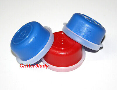 NEW Tupperware Lot of 3 Smidgets in Blue and Red
