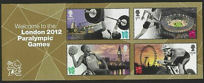 Great Britain 2012 MINI SHEET Welcome to the London Paralympic Games MNH FV£3.96
