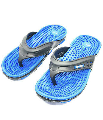 Acupressure Acupunture Magnetic Slippers Sandal Therapy Massager Unisex Blue UK