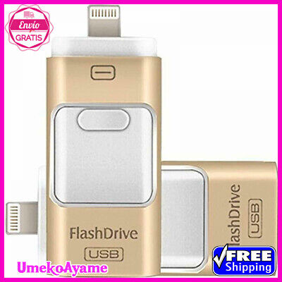 ,Lightning OTG Jump Drive,iPad Memor 256GB USB Flash Drives for iPhone 3-in-1