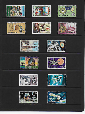 Ascension Islands 1971 Qeii Space Set Stamps Mnh Unmounted Mint Sg 135 To Sg 148