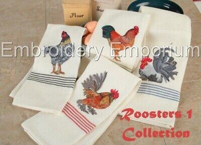 Roosters 1 Collection - Machine Embroidery Designs On Cd Or Usb