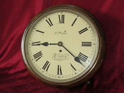 A Good English 12in Fusee Dial Clock