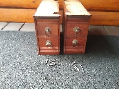 4 Antique RARE 1880-1920's WHITE Treadle Sewing Machine Drawers GREAT condition
