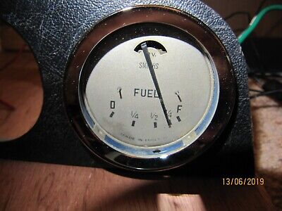 SMITHS GOLD FACE Fuel Gauge -Orig Austin Healey 100-6 3000 FG2530/03 VGC WORKING