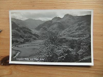 Postcard THE LANGDALES PIKES AND VALLEY Cumbria Lake District (P)