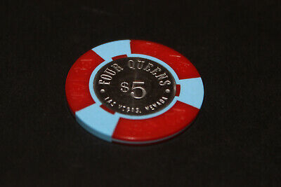 Rare Four Queens $5 Casino Chip Las Vegs Mint Rated