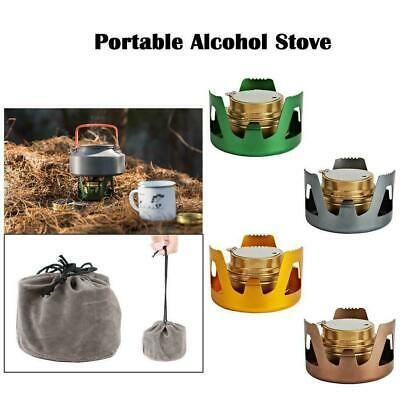 Portable Survival Alcohol Stove Burner For Backpacking Best Camping Favor H Y0X3