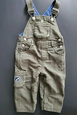 Gymboree Boys Size 6-12 Months Olive Green Overalls Infant Baby Boy