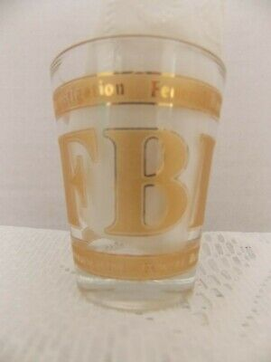 FBI Shot Glass Federal Bureau of Investigation Souvenir Shot Glass