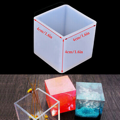 DIY Silicone Pendant Mold Jewelry Making Cube Resin Casting Mould Craft Tool