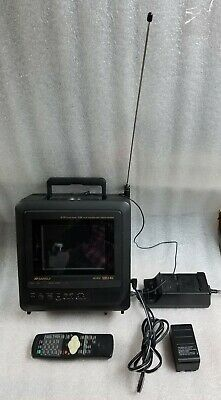 Sansui CLD0065 6 inch LCD Portable AC/DC Television With Built in VCR BUNDLE