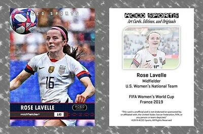 2019 Rose Lavelle Women's World Cup Art Cards Editions & Originals Card - USA