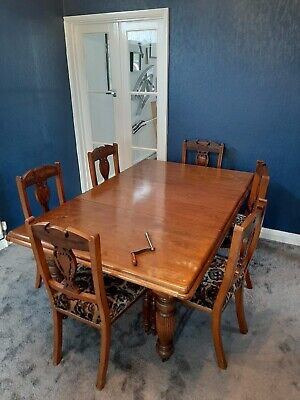 Joseph Fitter Victorian Mahogany Extending Dining Table and 6 Matching Chairs