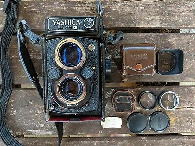 Yashica Mat - 124g, Twin Lens Reflex, TLR, Medium Format, Film Camera + Extras