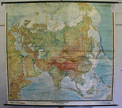 Schulwandkarte Wall Map School Map Map Europa and Asian Eurasien 211x197cm