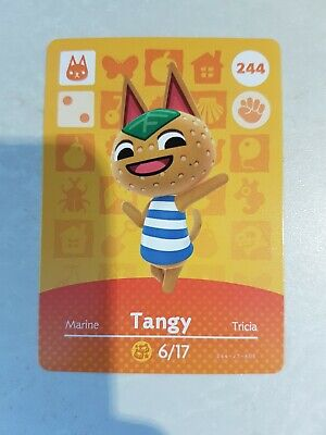 animal crossing new leaf welcome  amiibo card tangy  244