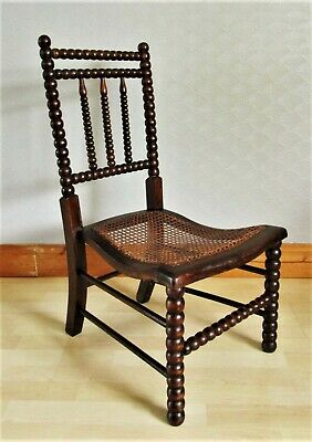 Antique Art & Crafts William Morris Design Bergere Bobbin Chair 1 of 2 Available