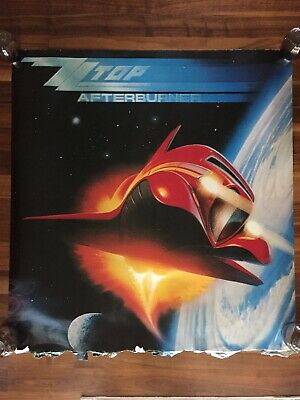"ZZ TOP AFTERBURNER 1985 RECORD LABEL PROMO POSTER 39""x 36"""
