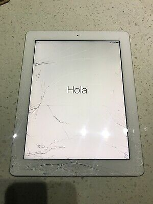 Apple iPad 4th Gen 4G WiFi Only 32GB Cracked broken Smashed screen