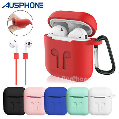 For Apple Airpods 1 & 2 Case Cover Anti Lost Strap Airpod Case Shockproof Holder