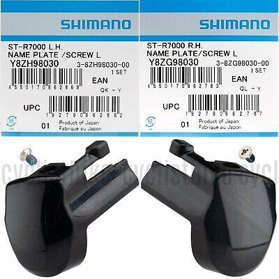 Shimano 105 ST-5800 Left//Right Hand Name Plate /& Fixing Screws Pair NIB