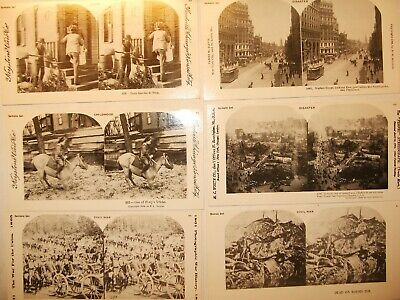 Vintage Stereoview Sample Set Picture Cards Lot of 6