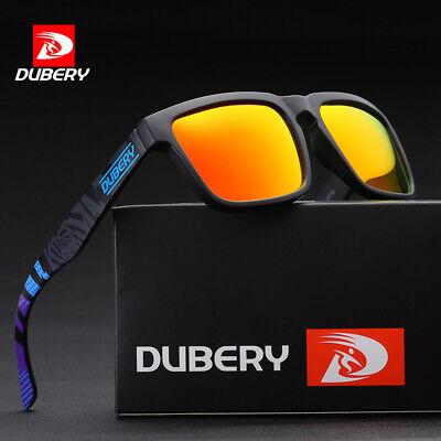 DUBERY Mens Womens Polarized Sunglasses Driving Shades Unisex Square Hot Fishing