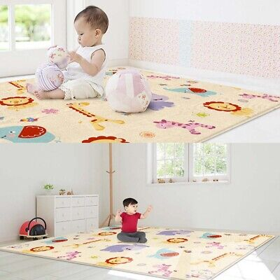 180*150 x 0.5cm Indoor Baby Carpet Waterproof Play Crawling Mat Kids Play Rug US