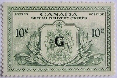 """CANADA #EO2: VF MNH 10-Cent Special Delivery """"G"""" Overprint"""