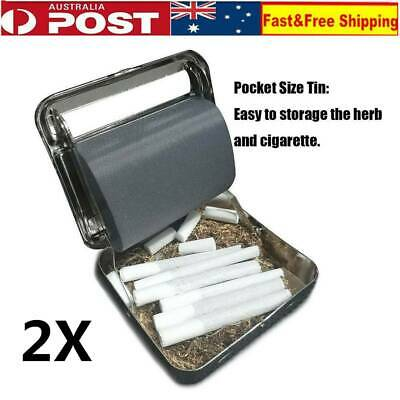2X Metal Automatic Cigarette Tobacco Roller Rolling Papers Machine Box Cigar AU