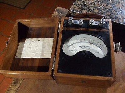 VINTAGE 1944 WW2 PRECISION PORTABLE AMMETER by EVERETT EDGCUMBE of LONDON