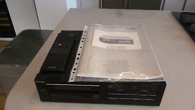 Vintage Phillips CD Player 450/05 with remote and instructions