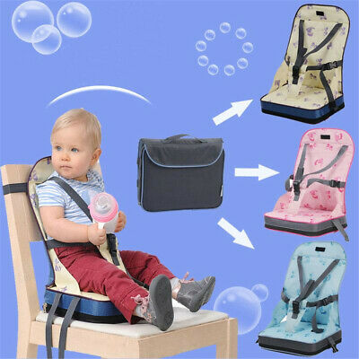 Baby Toddler Portable Feeding Chair Foldable Dining High Booster Seat Harness