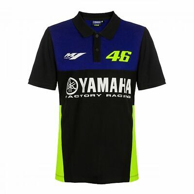 Valentino ROSSI VR46 2019 Moto GP Short Sleeve Yamaha Polo shirt - Mens